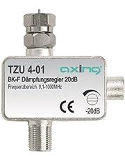 Axing TZU 4-01 Atenuador de señal de cable o TDT para conector F (0,5-20 dB)