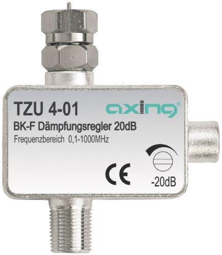 Axing TZU 4-01 BK-Dämpfungsregler mit F-Anschluss (0,5-20 dB)