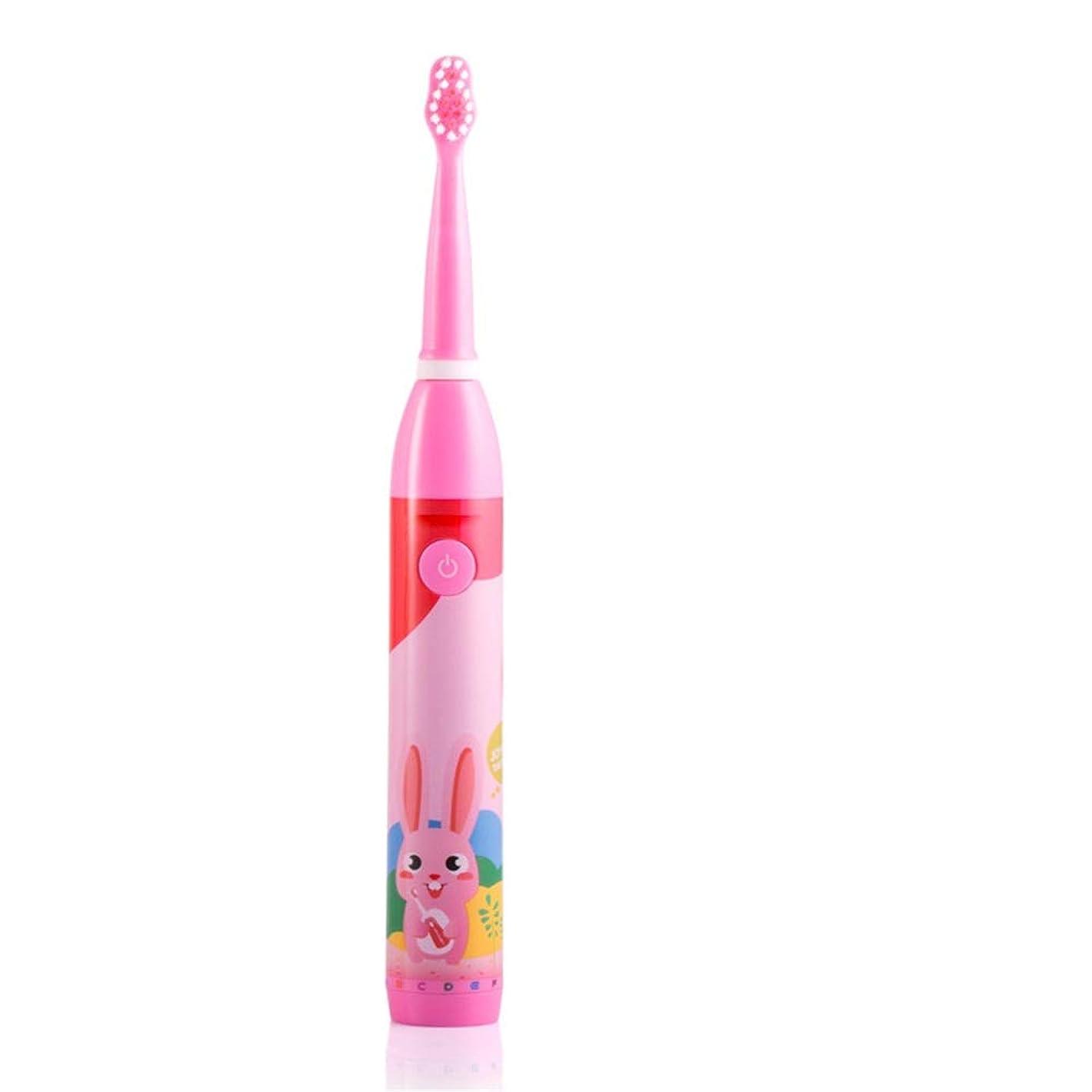 改修つまらない立法電動歯ブラシ 子供の電動歯ブラシUSB充電式防水保護ホワイトニング歯ブラシ高齢者6-12に適して 大人と子供向け (色 : ピンク, サイズ : Free size)