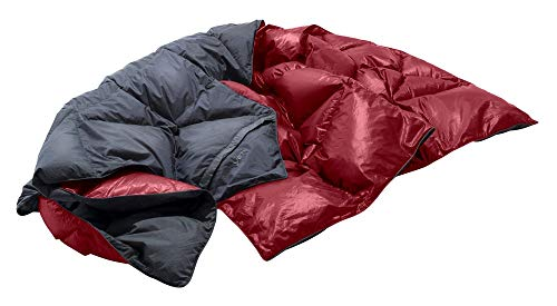 YETI Kiby, Coal Grey/Cranberry Red Daunendecke, Reisedecke, Größe uni