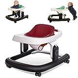 Lauflernwagen Baby, Lauflernhilfe 2 in 1 Tolles Muster Gehfrei Leicht Zu Reinigendes Tablett/Baby...