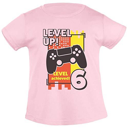 Zes verjaardag meisje Level Up Leves Archieved 6 meisjes T-shirt