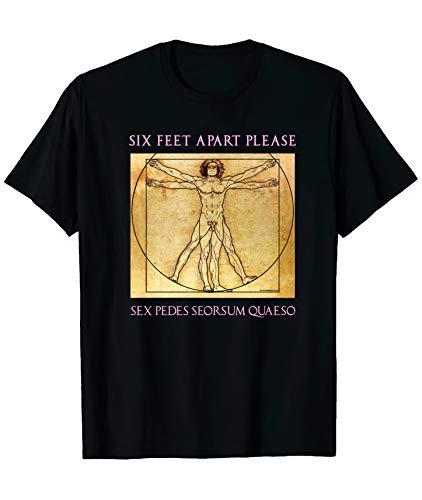 Fliptomania Six Feet Apart Social Distancing T-Shirt (XX-Large) Black