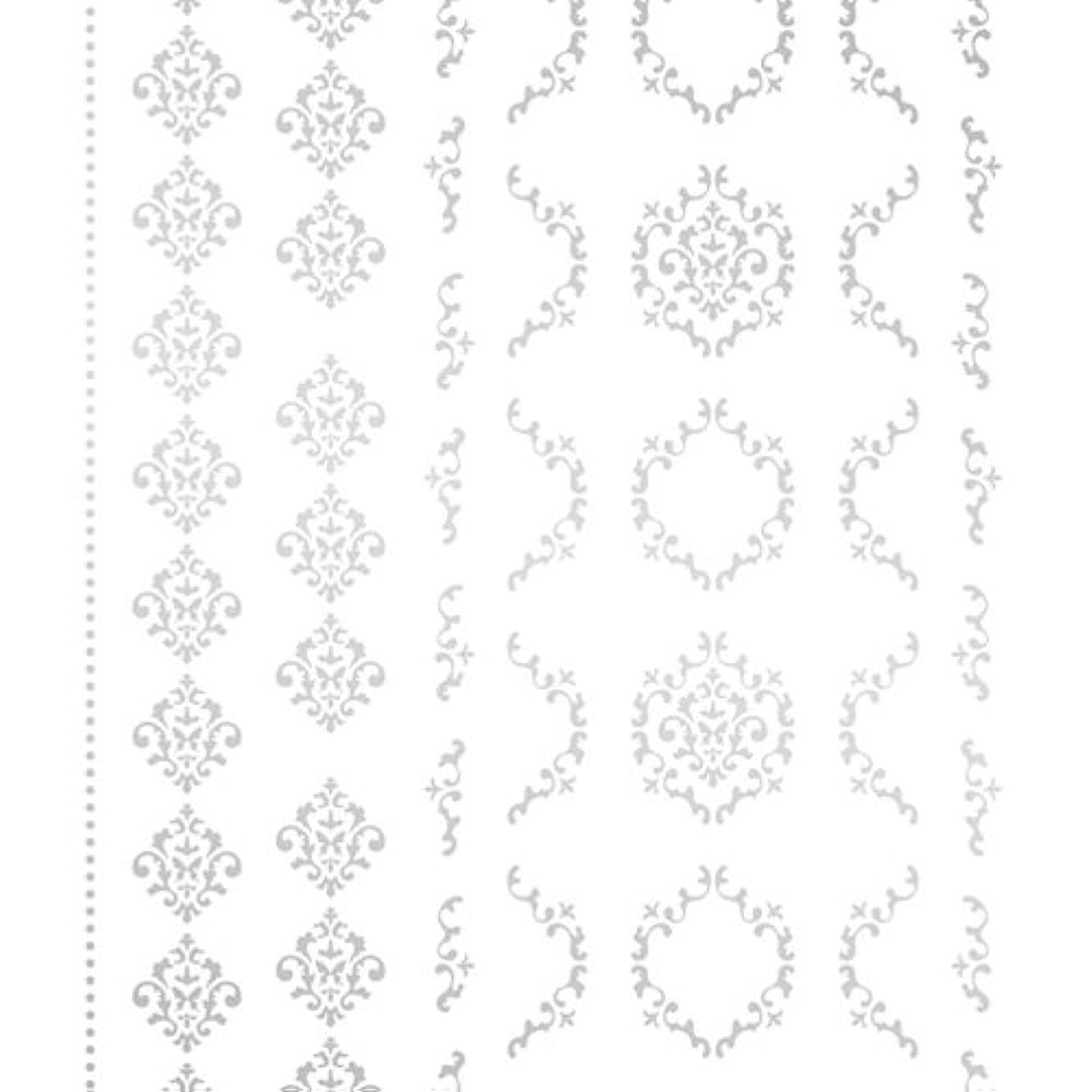 ペネロペスリットアーティストツメキラ(TSUMEKIRA) ネイル用シール agehaダマスクM シルバー SG-AGE-103