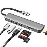6 in 1 Multiporta USB C Hub ,DEMKICO Adattatore USB C a HDMI con...