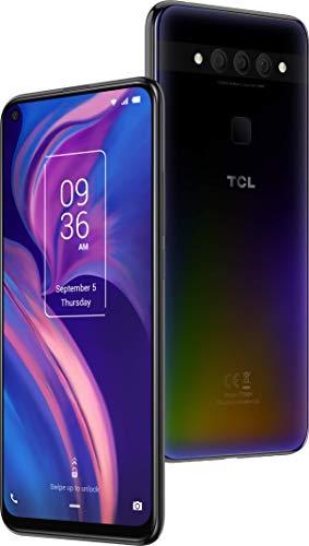 TCL Smartphone 'TCL PLEX' 128 GB (16,59 cm (6,53 Zoll) FHD+ LCD LTPS-IPS Bildschirm, Triple-Hauptkamera, 24MP Frontkamera, 6 GB RAM, Dual-SIM, Android 9), Obsidian Black