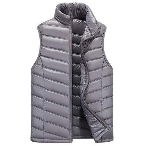 Mens Gilets Jassen Stand-Up kraag Down Jacket Kleding Taillejassen Gilets Jassen Body Warmers Wandelen Waistcoat Vest Jas