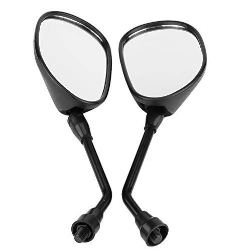 Espejo Retrovisor, par de Espejos Retrovisores Universales de 10 mm DY100 Espejos Laterales de Vista Trasera para Motocicletas Scooter