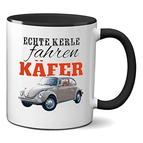 Echte Kerle Fahren Käfer - hochwertiger Keramik-Kaffeebecher - Cups by t? - Kaffeetasse - Spruchtasse - Tasse mit Spruch - Geschenk