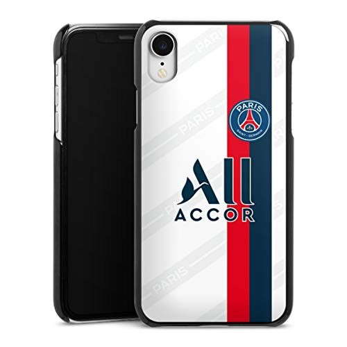 DeinDesign Hard Case kompatibel mit Apple iPhone Xr Schutzhülle schwarz Smartphone Backcover Paris Saint-Germain Trikot PSG