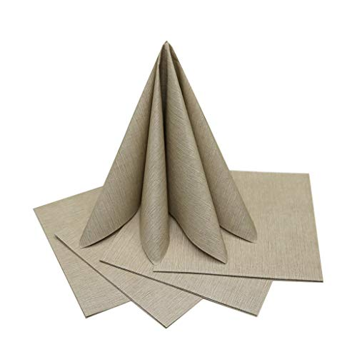 The Napkins Deluxe Classic Entertaining Napkin - Taupe Luxury Paper Napkin - Feels Like Cloth
