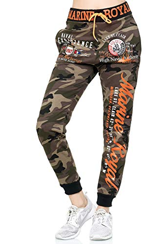 Violento Damen Jogginghose | Marine Royal 512 | Khaki/Camouflage | M