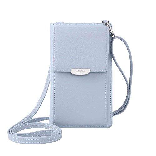 NYKKOLA Kleine Umhängetasche für Handy, Geldbörse, Kartenhalter, Tasche mit Riemen für Damen