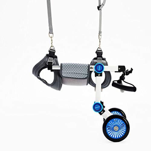 nikka(日華)ペット車椅子 2輪歩行器 介護ハーネスセット 後脚サポート 小型犬 中型犬 リハビリ用 歩行補助 軽量 調節可能 ヘルニア けが XS広幅サイズ