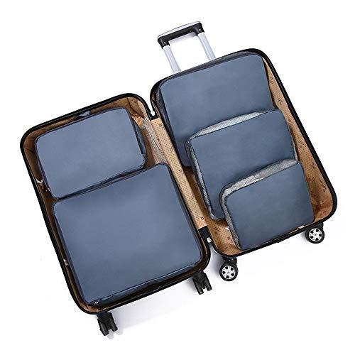 Bajo Almacenamiento en Cama Set de 5 x Embalaje Cubos de viajes organizadores equipaje bolsas de compresión de los sistemas impermeables Bolsas almacenaje de la ropa accesorios de viaje for el equipaj