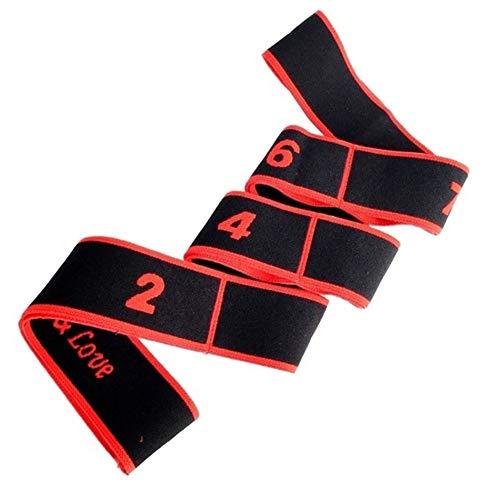SDGDFXCHN Elastisches Band für Erwachsene, 90 cm, elastisch, für Yoga, Fitnesstraining, rot, 90 * 4cm
