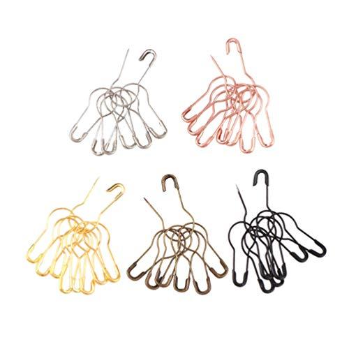 STOBOK 500 Pins DE SEGURIDAD Metálicos con Forma de Calabaza Broches de Costura Hechos a Mano Broches de Seguridad Broches de Ropa para Manualidades Suministros para Oficina en Casa
