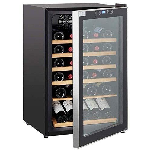 Enfriador de Vino de 30 Botellas, mostrador Independiente, refrigerador, Bodega, Panel táctil, Pantalla Digital de Temperatura