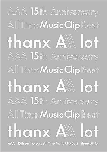 【メーカー特典あり】【初回仕様】AAA 15th Anniversary All Time Music Clip Best -thanx AAA lot- (Blu-ray Disc2枚組) (スリーブ仕様) (AAAオリジナルポストカード付き)