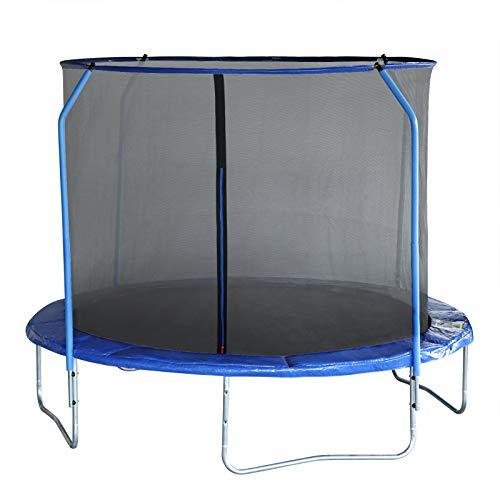 EUGAD Trampoline, Outdoor 8ft Trampoline Heavy Duty Fitness Trampette Garden Trampoline Safety Net Complete Set Jumping for Adults,Kids,Blue