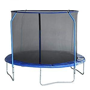 EUGAD Cama Elastica Trampolin Jardín Infantil Hacer Ejercicio y Jugar Mejora la Forma Física Color Azul Ø310cm 0001BC