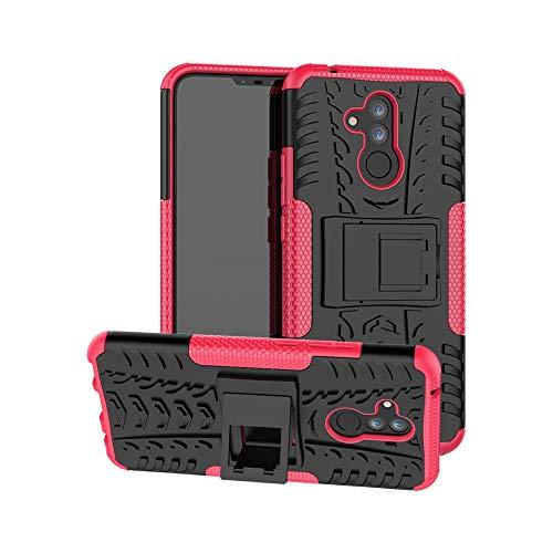 Capa para Huawei Mate 20 Lite, JYZR resistente, camada dupla 2 em 1, resistente, resistente a impactos, capa rígida com suporte traseiro para Huawei Mate 20 Lite - Rosa choque