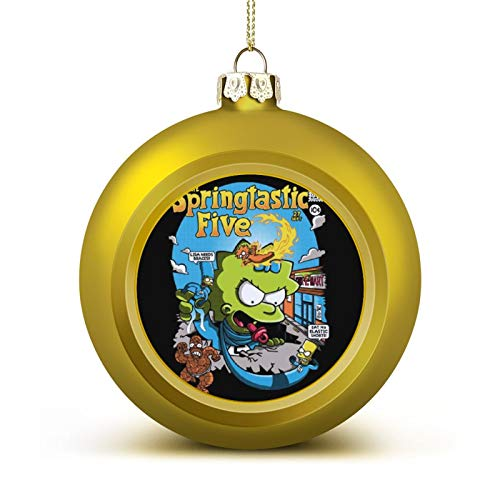 WESD The Springtastic Five The Simpsons Fantastic Four Christmas Ball Ornaments Anti-Drop, Plastic Ornaments Christmas Balls, Various Holiday Party Decorations
