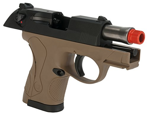 Evike - We-Tech Bulldog Compact Airsoft Gas Blowback GBB Pistol - Tan - (43581)
