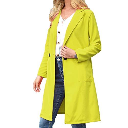 Frauen Herbst Und Winter Wolle Wolle Revers Langen Mantel