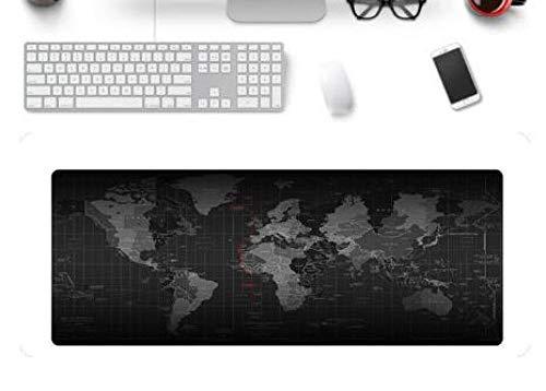 JIACHOZI 1200 × 600 × 3 mm Negro Fondo Mundo Mapa Alfombrilla Raton One Piece XL Alfombrilla Raton Ordenador Grandes Gaming Mousepad Alfombrilla Raton Mat para Mesa de Trabajo PC y Portátil