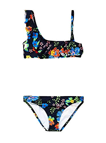 Pepe Jeans- Bikini PGB10316 Flora Bikini- 0AA Multi- Bikini para NIÑA (8 AÑOS)
