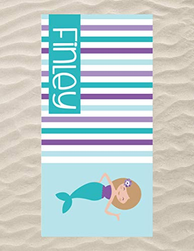 Personalized Mermaid Beach Towel for Kids, Best Beach Towel for Girls, Kids Swimming Towel, Custom Beach Towel, Personalized Towels for The Beach, Microfiber Beach Flat Towel 60x30 inches