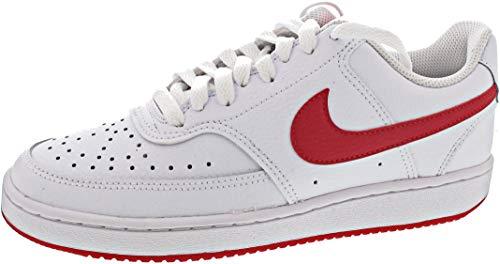 Nike Court Vision Low, Scarpe da Ginnastica Donna, Bianco/università Rosso/Bianco, 41 EU
