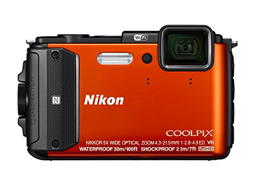 Nikon Coolpix AW130 Digitalkamera (16 Megapixel, 5-Fach Opt. Zoom, 7,6 cm (3 Zoll) OLED-Display, USB 2.0, bildstabilisiert) orange