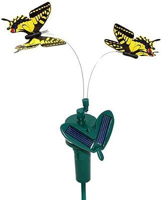 starnearby Mariposa voladora de energ/ía solar para decoraci/ón de jard/ín color al azar
