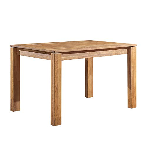 NordicStory - Tavolo da pranzo Mauritz 4 in legno massello di quercia, ideale per cucina o salotto,...