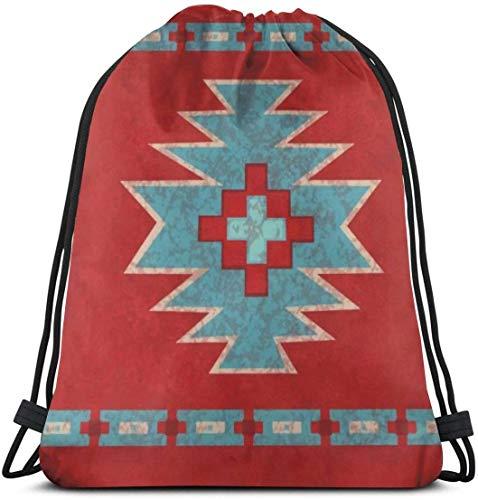 KINGAM Mochila deportiva para gimnasio, color rojo occidental Southwest Mesas con cordón para niños y niñas