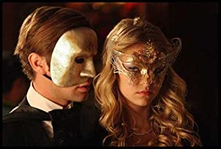 Gold Gossip Girl Serena Laser Cut Venetian Masquerade Mask with Rhinestones Event Party Ball Mardi Gars
