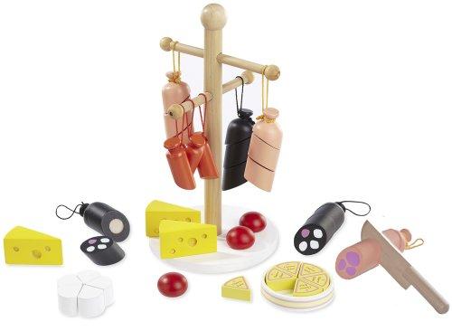 Howa Kaufladenzubehör Wurst und Käse aus Holz 4858