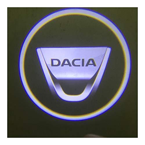 Happy Shop Autotür Willkommen Licht 2 Stück kompatibel mit Dacia LED Auto-Tür-Willkommens-Licht Logo-Projektor kompatibel mit Dacia Duster Logan 2 Mcv Sandero Stepway Willkommenes Licht