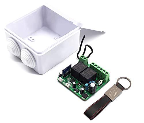 KASER Receptor Universal RTS 433.42MHz Compatible con Somfy RTS Receptor Garaje Persiana Luces de Puerta Automáticas Relé 2 Canales 12 / 24V AC DC