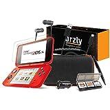 Orzly Accesorios 2DSXL, Pack New Nintendo 2DS XL [Paquete Incluye: Cargador de Coche/Cable USB/Rojo en Negro Edición Funda para Consola y más…] (Véase descripción para más información)