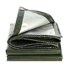 ASKLKD Lona Resistente Al Agua, Lona Ligera Cubierta De Suelo Sábana De Camping (verde) (Size : 2mx2m (6.5ftx6.5ft))