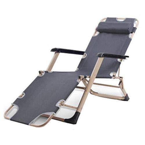 Qinmo Sillón reclinable, plegable Silla de jardín Silla de salón de la silla de playa Sun Pausa for el almuerzo de oficina Silla Tomar el sol mujeres embarazadas adultos de edad avanzada se agrandaron