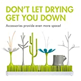 Boon GRASS Abtropfgestell mit praktischer Auffangschale für die Küche, Stylisches zweiteiliges Trockengestell in Grün, Baby Erstausstattung, Trockenständer für Babyflaschen, Baby Zubehör - 9