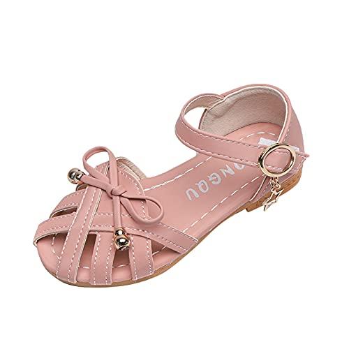 YWLINK Zapatos De Princesa Con Lazo De Fondo Suave Antideslizantes Y Resistentes Al Desgaste Para NiñOs, Zapatos De ActuacióN En El Escenario,Zapatos Individuales, Sandalias Romanas
