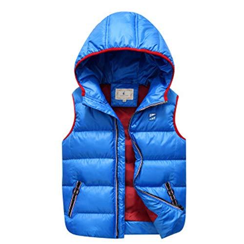 Gevoerd vest voor kinderen, waterbestendig, warm, licht jack, gemakkelijk op te bergen – voor winterreizen, wandelen.