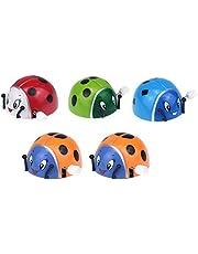 Toyvian Ladybug Clockwork Toys Ladybird Toys Juguete de Cuerda para niños para niños 5pcs (Color Aleatorio)