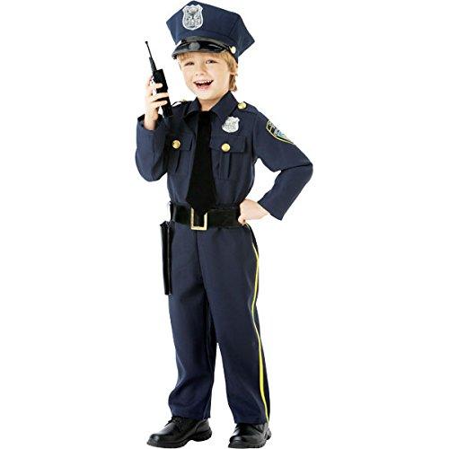 amscan 999664 Classic Blue Police Officer Costume with Hat - Age 4-6 Years - 1 PC Klassisches blaues Polizistin-Kostüm mit Hut – Alter 4–6 Jahre – 1 Stück, Marineblau, Ages