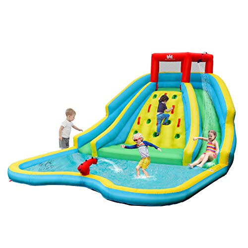 BOUNTECH Inflatable Water Slide, Double...